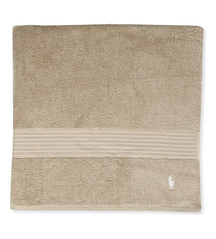 RALPH LAUREN HOME Player bath sheet (Dune