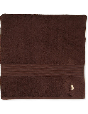 RALPH LAUREN HOME Player hand towel brown