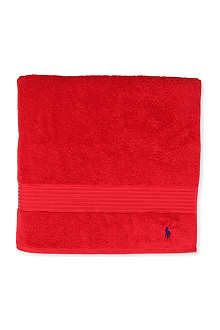 RALPH LAUREN HOME Player guest towel red