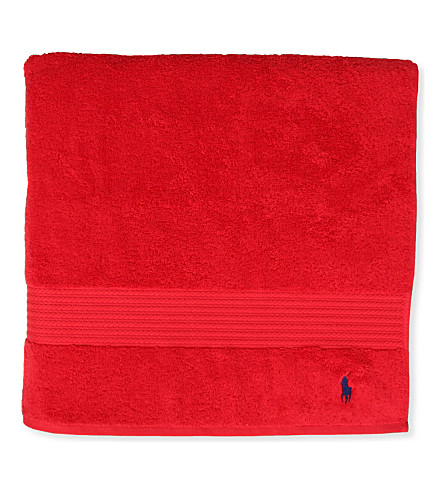 RALPH LAUREN HOME Player guest towel red (Red