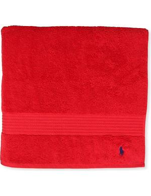 RALPH LAUREN HOME Player bath towel red