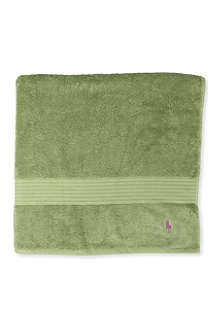 RALPH LAUREN HOME Player bath sheet avocado