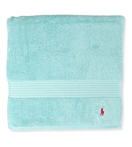 RALPH LAUREN HOME Player guest towel aqua (Aqua