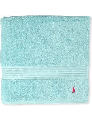 RALPH LAUREN HOME Player guest towel aqua
