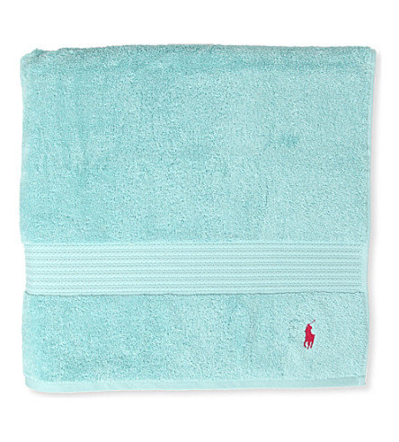 RALPH LAUREN HOME Player bath sheet aqua (Aqua