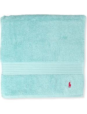 RALPH LAUREN HOME Player bath sheet aqua