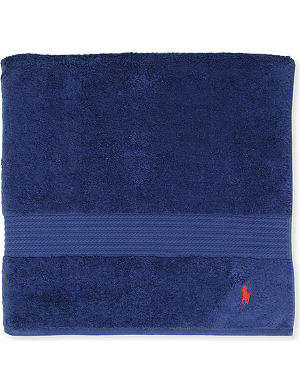 RALPH LAUREN HOME Player guest towel marine