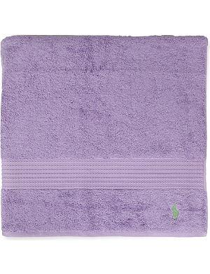 RALPH LAUREN HOME Player hand towel purple