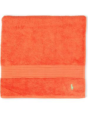 RALPH LAUREN HOME Player guest towel tangerine