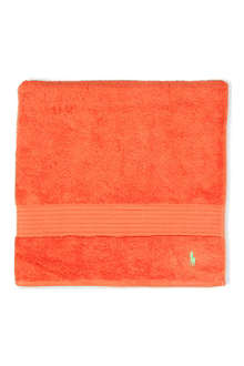 RALPH LAUREN HOME Player bath towel tangerine