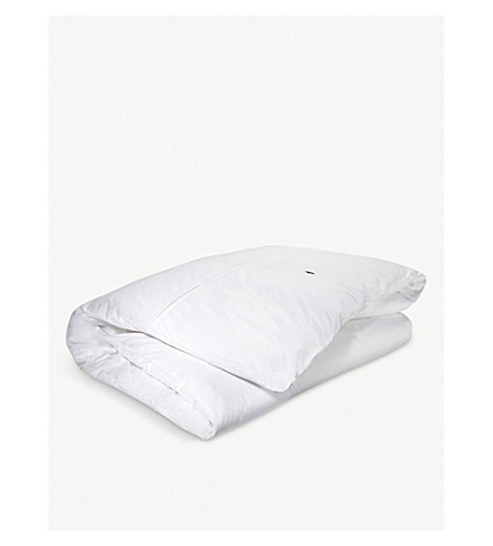 RALPH LAUREN HOME Player single duvet cover (White