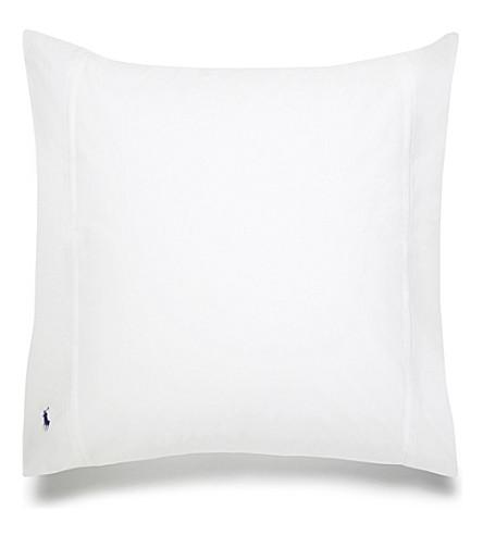 RALPH LAUREN HOME Player square pillowcase (White