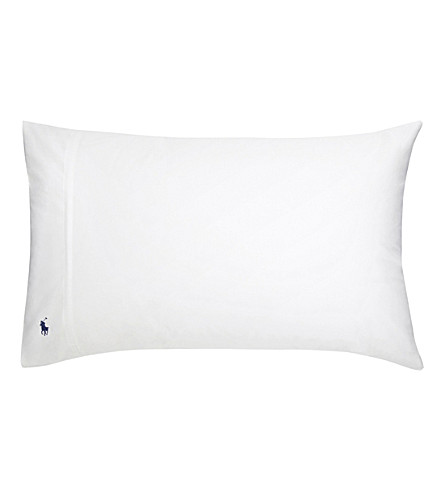 RALPH LAUREN HOME Player kingsize pillowcase (White
