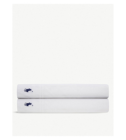 RALPH LAUREN HOME Player single flat sheet (White