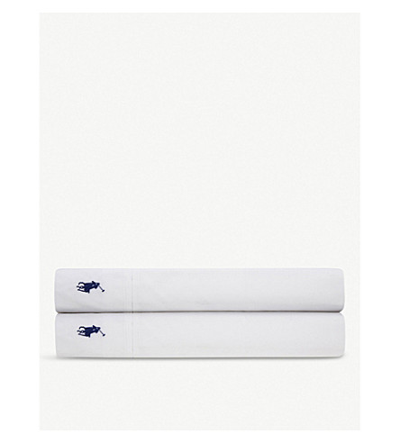 RALPH LAUREN HOME Player flat sheet (White