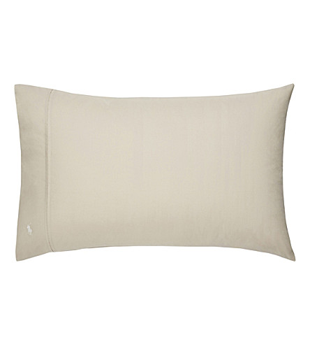 RALPH LAUREN HOME Player standard pillowcase (Dune