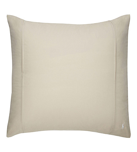 RALPH LAUREN HOME Player square pillowcase (Dune