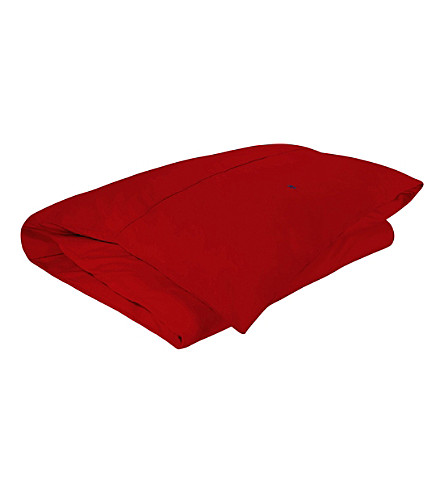 RALPH LAUREN HOME Player single duvet cover (Red