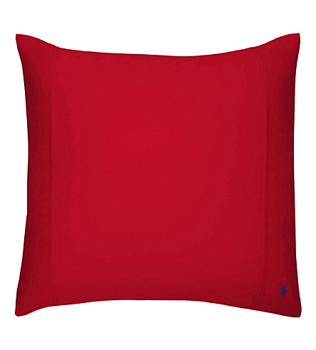 RALPH LAUREN HOME Player square pillowcase (Red