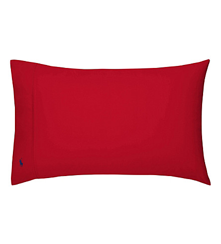RALPH LAUREN HOME Player kingsize pillowcase (Red