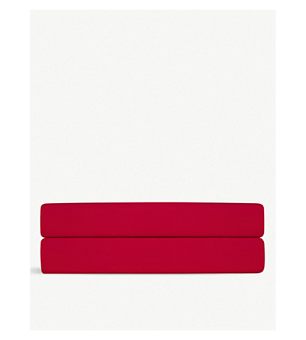 RALPH LAUREN HOME Player double flat sheet (Red