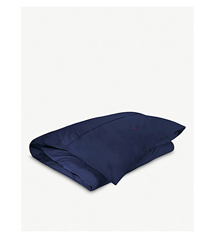 RALPH LAUREN HOME Player single duvet cover (Navy