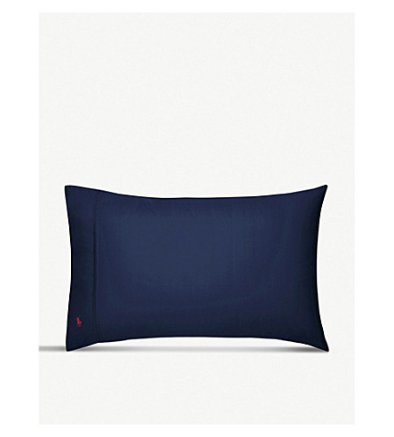 RALPH LAUREN HOME Player standard pillowcase (Navy