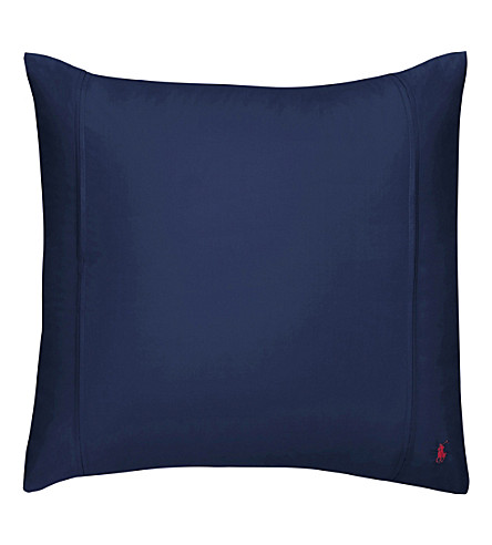 RALPH LAUREN HOME Player square pillowcase (Navy
