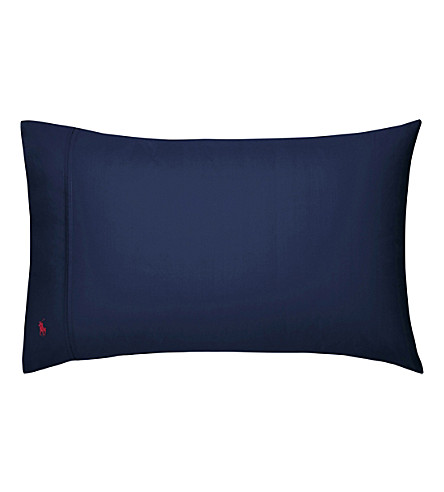 RALPH LAUREN HOME Player kingsize pillowcase (Navy