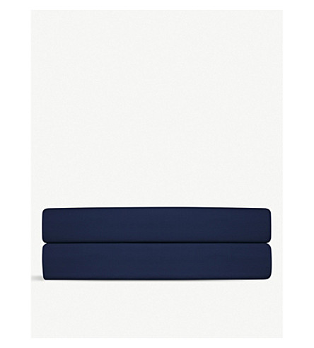 RALPH LAUREN HOME Player double flat sheet (Navy