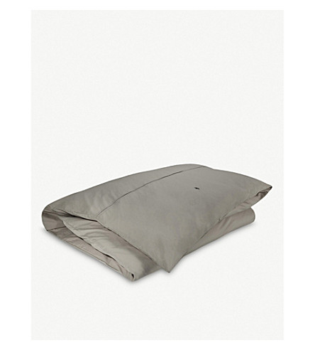 RALPH LAUREN HOME Player single duvet cover (Pebble