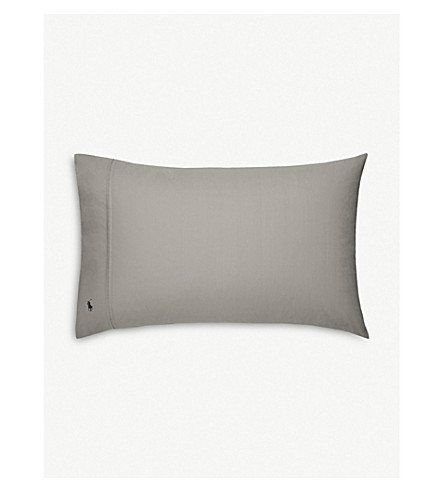 RALPH LAUREN HOME Player standard pillowcase (Pebble