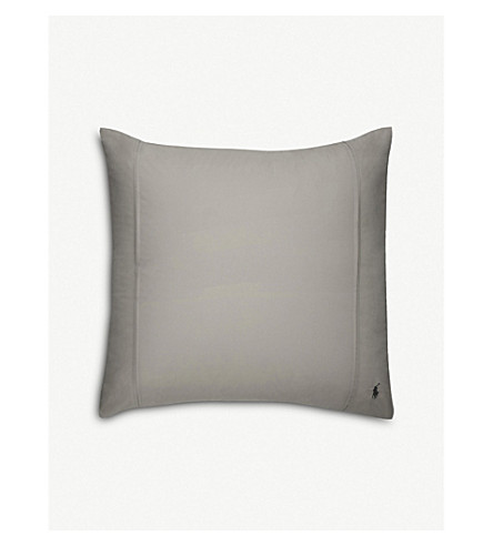RALPH LAUREN HOME Player square pillowcase (Pebble