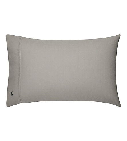 RALPH LAUREN HOME Player kingsize pillowcase (Pebble