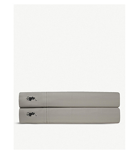 RALPH LAUREN HOME Player single flat sheet (Pebble