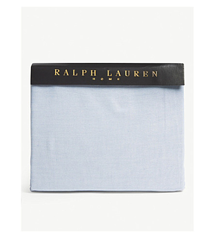 RALPH LAUREN HOME Oxford fitted sheet (Blue