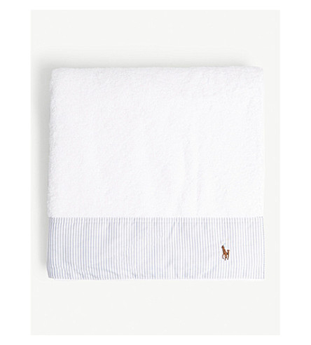 RALPH LAUREN HOME Oxford cotton bath mat (Blue
