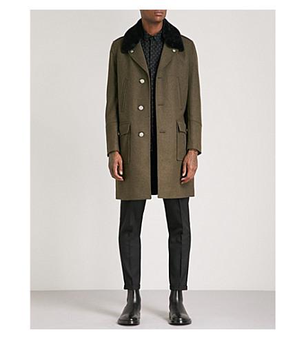 THE KOOPLES Edgar faux-fur collar wool coat (Kak23