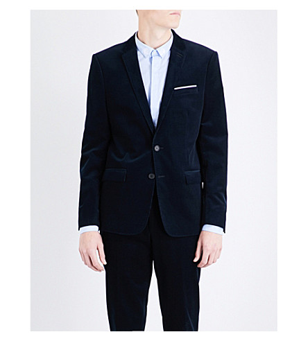 THE KOOPLES Jet slim-fit corduroy jacket (Nav01