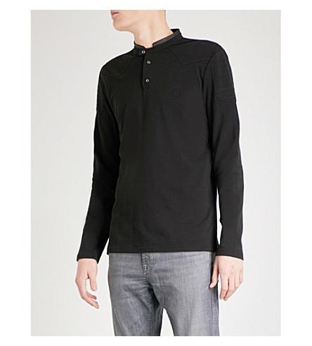 THE KOOPLES Contrasting-trim collar cotton-piqué polo shirt (Bla01