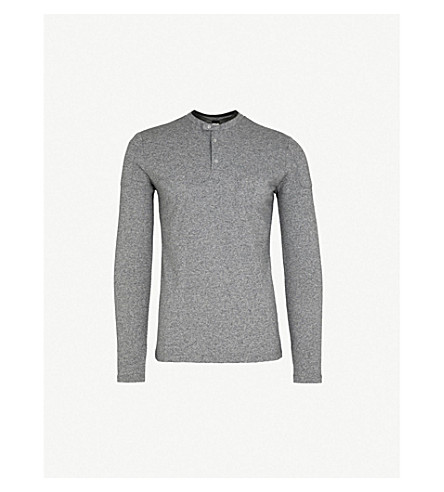 THE KOOPLES Officer-collar cotton-pique polo shirt (Gry01