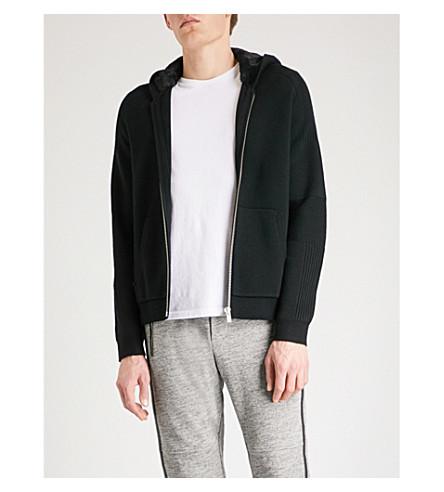 THE KOOPLES Faux fur-lined hood wool-blend hoody (Bla01