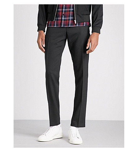 THE KOOPLES Slim-fit tapered stretch-wool trousers (Bla01