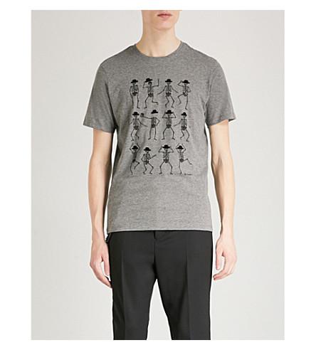 THE KOOPLES Skeleton-print cotton T-shirt (Gry23
