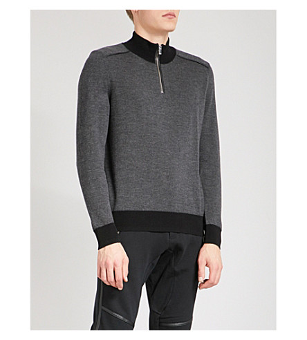 THE KOOPLES Half-zip merino wool jumper (Gry13