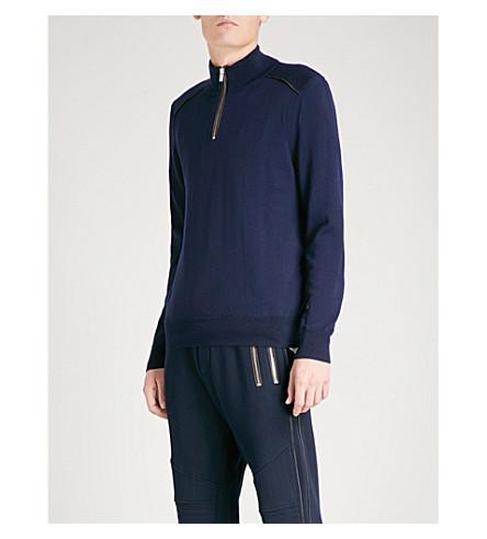 THE KOOPLES Half-zip wool jumper (Nav35