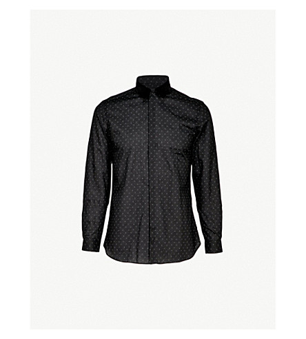 THE KOOPLES Detachable-collar fitted cotton shirt (Bla28