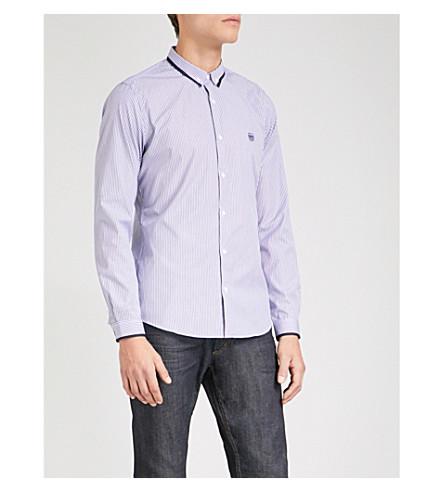 THE KOOPLES Striped slim-fit cotton shirt (Blu21