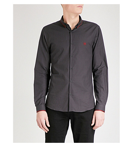 THE KOOPLES Checked cotton-poplin shirt (Gry29