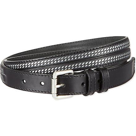 THE KOOPLES Metal chain belt (Black/silver